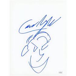Cameron Monaghan Signed 8.5x11 Hand-Drawn Sketch (JSA COA)