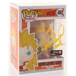 """Sean Schemmel Signed """"Dragon Ball Z"""" #492 Super Saiyan 3 Goku Funko Pop! Vinyl Figure Inscribed """"Gok"""