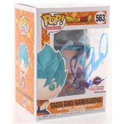 "Sean Schemmel Signed ""Dragon Ball Z"" #563 SSGSS Goku (Kamehameha) Funko Pop! Vinyl Figure Inscribed"