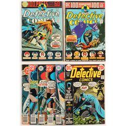 """Lot of (8) 1973-1980 """"Batman"""" DC Comic Books"""