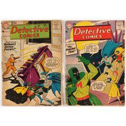 """Lot of (2) 1957 """"Batman"""" DC Comic Books"""
