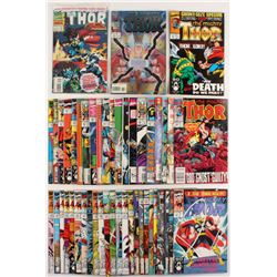 """Lot of (49) 1989-1996 """"The Mighty Thor"""" 1st Series Marvel Comic Books"""