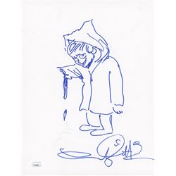 "Andy Muschietti Signed ""It"" 8.5x11 Hand-Drawn Sketch (JSA COA)"