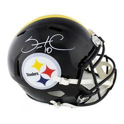 Santonio Holmes Signed Pittsburgh Steelers Full-Size Speed Helmet (Radtke COA)