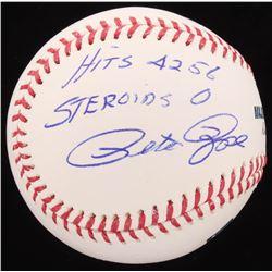 "Pete Rose Signed OML Baseball Inscribed ""Hits 4256 Steroids 0"" (Radtke COA)"