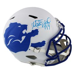 Matthew Stafford Signed Detroit Lions AMP Alternate Full-Size Speed Helmet (Fanatics Hologram)