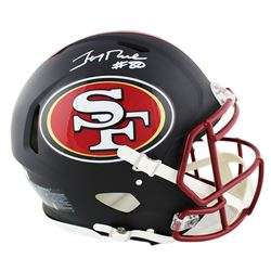Jerry Rice Signed San Francisco 49ers Full-Size Matte Black Speed Helmet (Radtke COA)