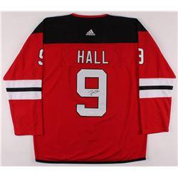 Taylor Hall Signed New Jersey Devils Jersey (JSA COA)