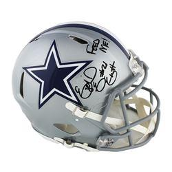 "Ezekiel Elliott Signed Dallas Cowboys Full-Size Authentic On-Field Speed Helmet Inscribed ""Feed Me!"""