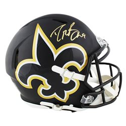 Drew Brees Signed New Orleans Saints Full-Size Authentic On-Field AMP Alternate Speed Helmet (Brees