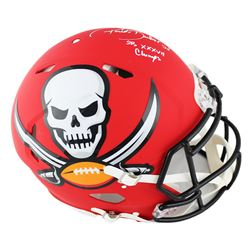 Ronde Barber Signed Tampa Bay Buccaneers Full-Size Authentic On-Field AMP Alternate Speed Helmet Ins