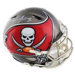 Ronald Jones Signed Tampa Bay Buccaneers Full-Size Authentic Speed Helmet (Radtke COA)