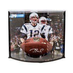 Tom Brady Signed NFL Official Game Ball with Curve Display Case (TriStar Hologram)