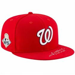 Juan Soto Signed Washington Nationals New Era Hat (Fanatics Hologram)