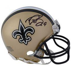 Drew Brees Signed New Orleans Saints Mini Helmet (Fanatics Hologram)