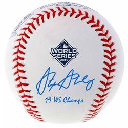 "Stephen Strasburg Signed 2019 World Series Baseball Inscribed ""19 WS Champs"" (Fanatics Hologram)"