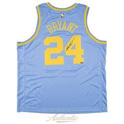 Kobe Bryant Signed Los Angeles Lakers Throwback Jersey (Panini COA)