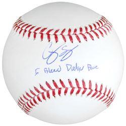 """Corey Seager Signed Baseball Inscribed """"I Bleed Dodger Blue"""" (Fanatics Hologram  MLB Hologram)"""
