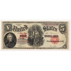 1907 $5 Five Dollars Legal Tender Large Bank Note