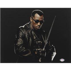 "Wesley Snipes Signed ""Blade"" 11x14 Photo (PSA COA)"