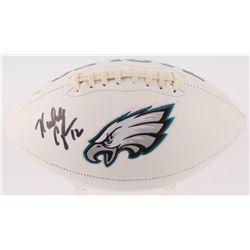 Randall Cunningham Signed Philadelphia Eagles Logo Football (JSA COA)