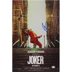 "Joaquin Phoenix  Todd Phillips Signed ""Joker"" 11x18 Photo (PSA COA)"