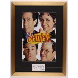 Jerry Seinfeld Signed 17x23.5 Custom Framed Cut Display (PSA COA)