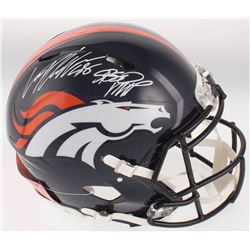 "Von Miller Signed Denver Broncos Full-Size Authentic On-Field Speed Helmet Inscribed ""SB 50 MVP"" (JS"