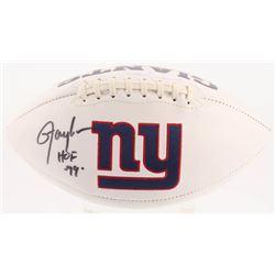 "Lawrence Taylor Signed New York Giants Logo Football Inscribed ""HOF 99"" (Radtke COA)"