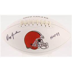 "Ozzie Newsome Signed Cleveland Browns Logo Football Inscribed ""HOF 99"" (JSA COA)"