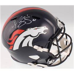 Champ Bailey Signed Denver Broncos Full-Size Speed Helmet (JSA COA)
