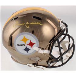 Terry Bradshaw Signed Pittsburgh Steelers Full-Size Chrome Speed Helmet (Beckett COA)