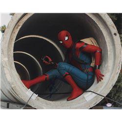 "Tom Holland Signed ""Spider-Man: Homecoming"" 16x20 Photo (PSA COA)"