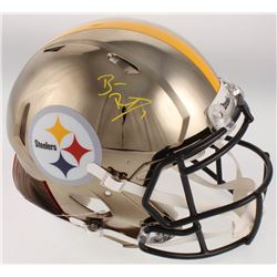 Ben Roethlisberger Signed Pittsburgh Steelers Authentic On-Field Full-Size Chrome Speed Helmet (Beck