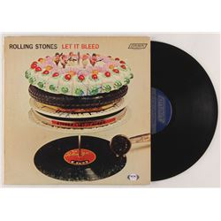 """Keith Richards Signed The Rolling Stones """"Let It Bleed"""" Vinyl Record Album Cover (PSA LOA)"""