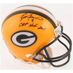 """Brett Favre Signed Green Bay Packers Mini-Helmet Inscribed """"GBP HOF 2015"""" (Radtke COA)"""