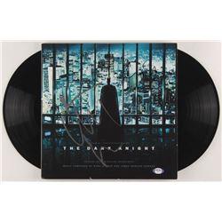 "Christian Bale  Christopher Nolan Signed ""The Dark Knight"" Vinyl Record Album Cover (PSA COA)"