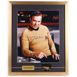 "William Shatner Signed ""Star Trek"" 22x27 Custom Framed Photo Display with 23 KT Gold Card (JSA COA)"