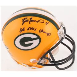 "Brett Favre Signed Green Bay Packers Mini-Helmet Inscribed ""SB XXXI Champs"" (Radtke COA)"