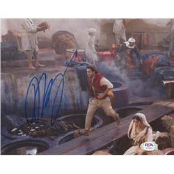 "Mena Massoud Signed ""Aladdin"" 8x10 Photo (PSA COA)"