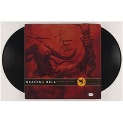 """Heaven  Hell """"The Devil You Know"""" Vinyl Record Album Cover Band-Signed by (4) with Tony Iommi, Geeze"""