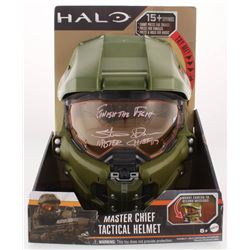 """Steve Downes Signed """"Halo"""" Master Chief Full-Size Helmet Inscribed """"Finish the Fight""""  """"Master Chief"""