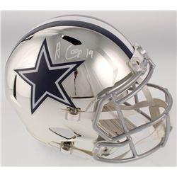 Amari Cooper Signed Dallas Cowboys Full-Size Chrome Speed Helmet (JSA COA)