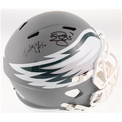 Donovan McNabb  Randall Cunningham Signed Philadelphia Eagles Full-Size AMP Alternate Speed Helmet (