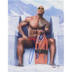 "Dwayne ""The Rock"" Johnson Signed ""Baywatch"" 8x10 Photo (PSA COA)"
