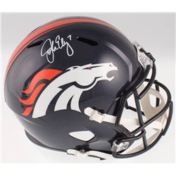 John Elway Signed Denver Broncos Full-Size Speed Helmet (Beckett COA)