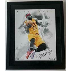 "LeBron James Signed Los Angeles Lakers ""Blow By"" 16x20 Custom Framed LE Photo (UDA COA)"