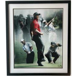 Tiger Woods Signed 20x24 Custom Framed LE Photo (UDA COA)