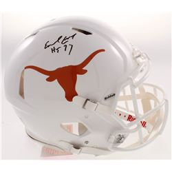 """Earl Campbell Signed Texas Longhorns Full-Size Authentic On-Field Speed Helmet Inscribed """"HT 77"""" (JS"""
