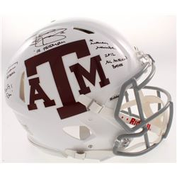 Johnny Manziel Signed Texas AM Aggies Full-Size Authentic On-Field Speed Helmet with Multiple Inscri